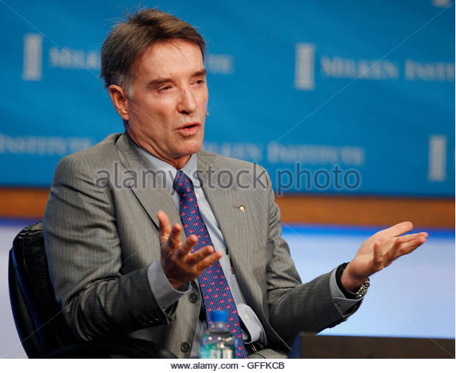 Brazilian Eike Batista, Chairman and CEO of EBX Group, gestures at the panel discussion 'Global Overview: Uncertainty - Stock Image