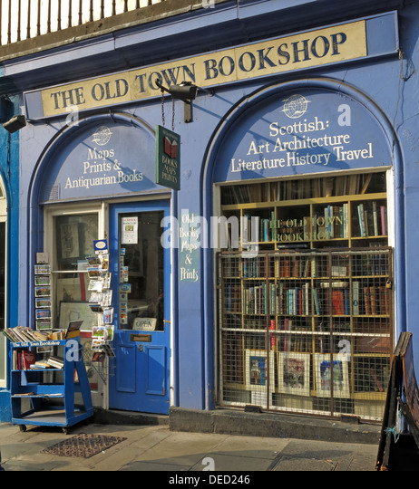 The old town bookshop Victoria Street Edinburgh Scotland UK - Stock Image