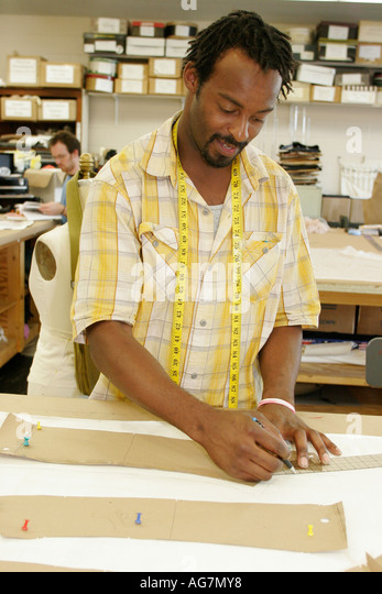 Alabama Montgomery Alabama Shakespeare Festival Black male tailor - Stock Image