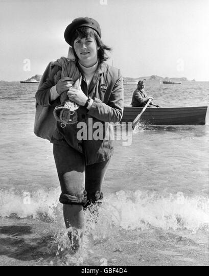 Work - Postwomen - The Scillies - 1975 - Stock Image