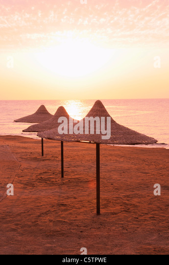 Egypt, Safaga, Sea at sunset - Stock Image