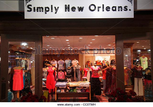 Louisiana New Orleans Riverwalk Marketplace Port of New Orleans Simply New Orleans retail boutique shopping store - Stock Image