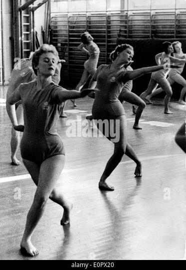 Princess Birgitta training to become a gymnastics teacher - Stock Image
