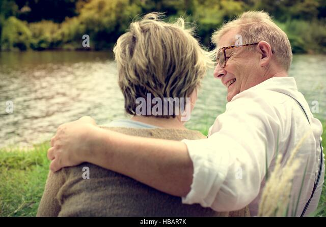 Elderly Senior Couple Romance Love Concept - Stock Image
