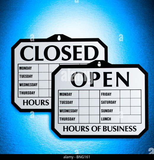 Opening Hours Stock Photos & Opening Hours Stock Images