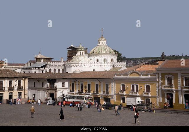 Ecuador Quito Plaza San Francisco - Stock Image
