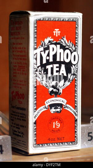 Vintage box of Typhoo tea. - Stock Image