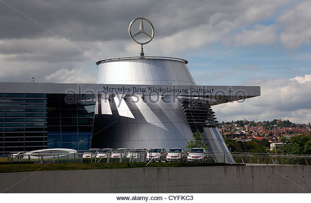 Headquarters mercedes benz stuttgart stock photos for Mercedes benz north america headquarters