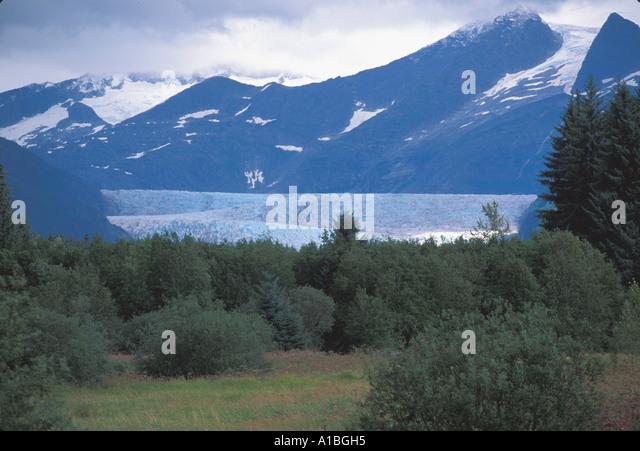 Alaska Juneau Mendenhall Glacier - Stock Image