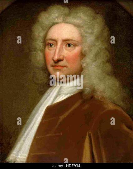 Robert Hooke, English natural philosopher, architect and polymath - Stock Image