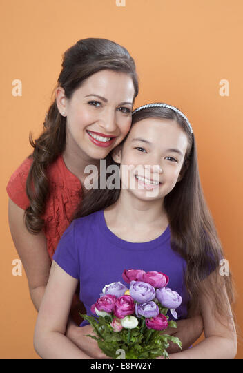 Portrait of mother and child - Stock-Bilder