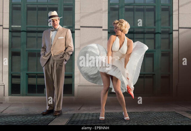 THE SECRET LIFE OF MARILYN  MONROE 2015 Lifetime film with Kelli Garner and - Stock Image
