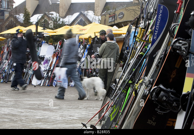 Whistler VIllage British Columbia Canada - Stock Image