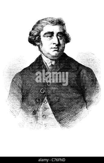 Portrait Charles James Fox The Honourable British Whig statesman Parliament parliamentary career arch rival William - Stock Image