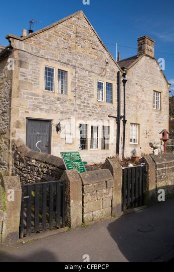 Plague cottages, Eyam, Derbyshire, England UK - Stock Image