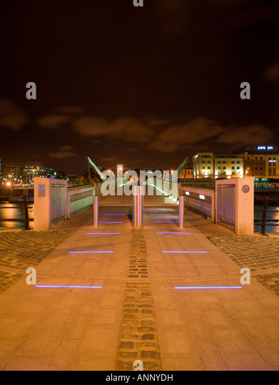 Seán O'Casey Bridge, Dublin, Ireland - Stock Image