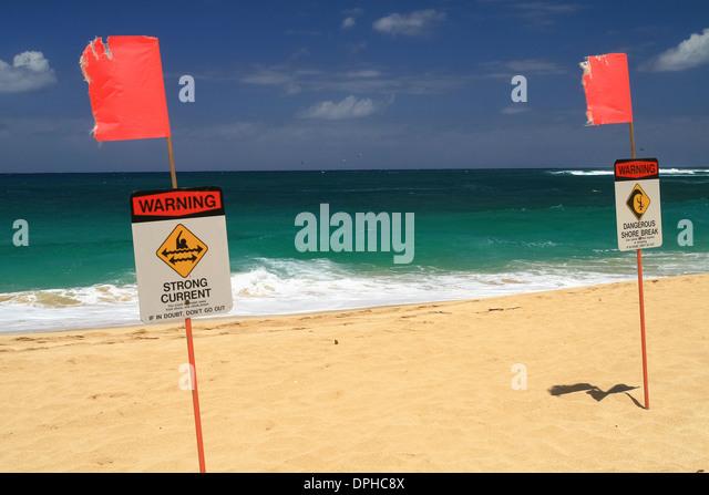 danger signs beach hawaii stock photos amp danger signs