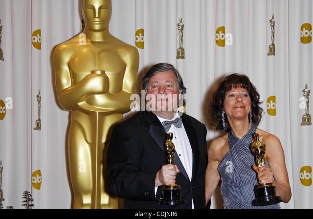 Feb. 28, 2011 - Hollywood, California, U.S. - KIRK SIMON, KAREN GOODMAN.Best Documentary (Short Subject).83rd Annual - Stock Image