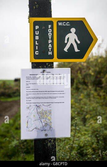 Anthrax case in Wiltshire - Stock Image