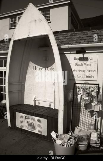 Crackington Haven Cafe North Cornwall - Stock Image