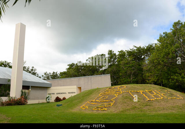 Entrance of the Tibes Indigenous Ceremonial Center and Museum of indigenous Cultures. Ponce, Puerto Rico. Caribbean - Stock Image