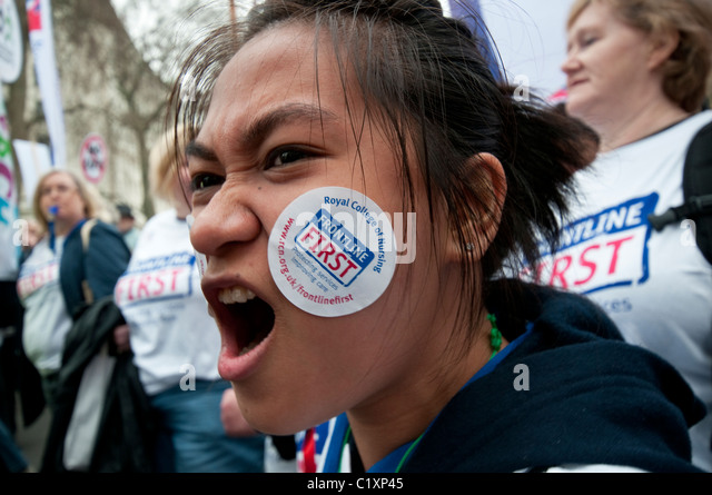 500,000 protesters join Anti-cuts 'March for the Alternative' organised by TUC Unions, London 2011 - Stock Image