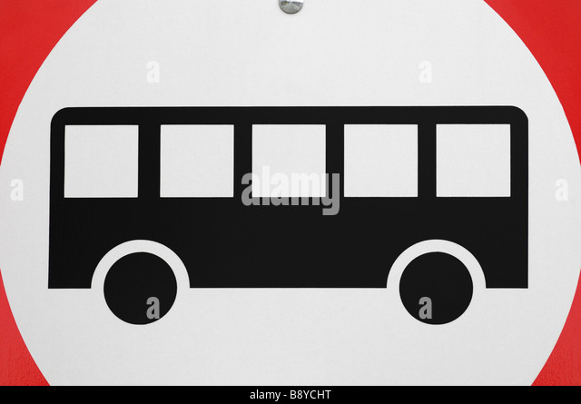 Buses Only Road Sign - Stock Image
