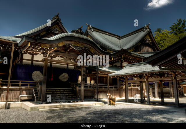 Japanese shinto Ise Grand shrine , Ise, Japan - Stock Image