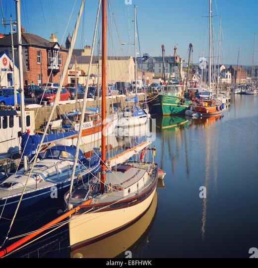 Docked boats - Stock Image