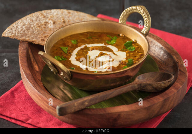Dal makhani. Lentils with butter and cream. India Food - Stock Image
