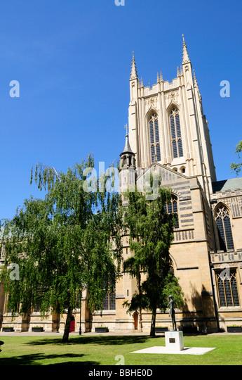 St Edmundsbury Cathedral Bury  St Edmunds Suffolk  England UK - Stock Image