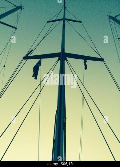 Sails down - Stock Image