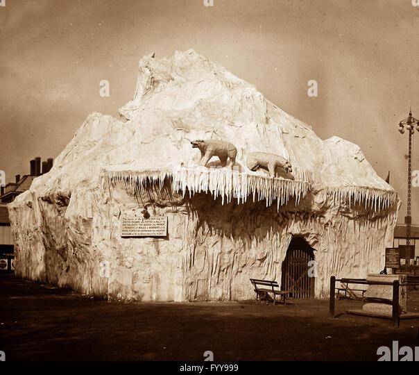 Royal Naval Exhibition 1891 - The Iceberg - Stock Image