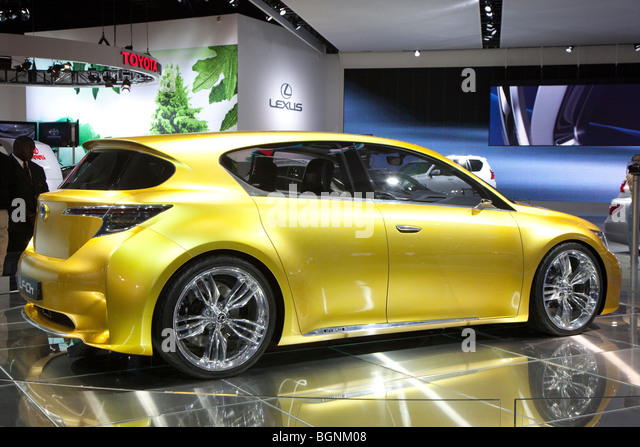 Detroit, Michigan - The Lexus LF-Ch hybrid concept car on display at the 2010 North American International Auto - Stock Image