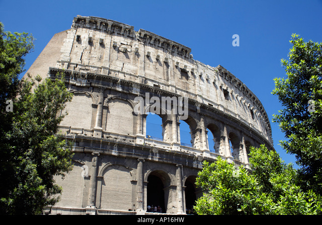 The Coliseum in Rome, Italy, Europe, Colosseum, Coliseum - Stock Image