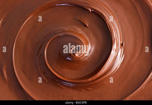 black chocolate swirl - Stock-Bilder