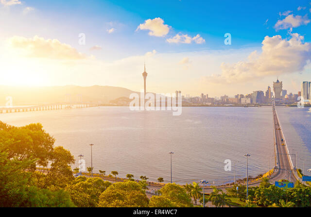 Macau city at day - Stock Image