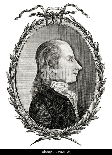 LORD GEORGE GORDON  Anti-Catholic fanatic and  President of the Protestant  Association, who led the Gordon Riots - Stock-Bilder