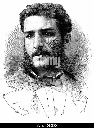 Pierre-Paul-Francois-Camille Savorgnan de Brazza (1852-1905) French explorer, founder of Brazzaville (1883) in the - Stock-Bilder