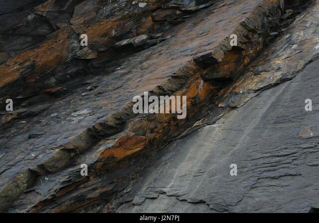 Rocks at Crackington Haven - Stock Image
