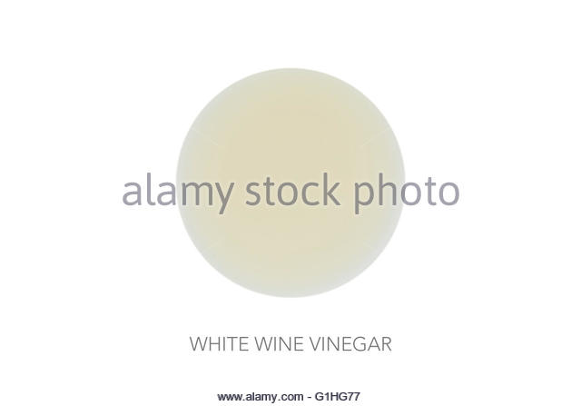 Food round bal ingredients minimalist white wine vinegar - Stock Image