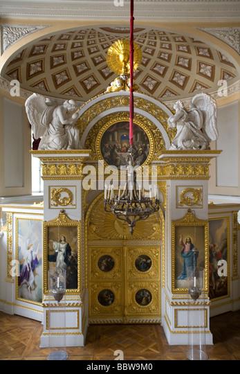 Russia St.Petersburg Pavlovsk Palace interior - Stock Image