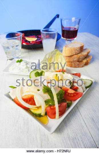 Greek meze ouzo feta cheese stock photos greek meze ouzo for Apollon greek and european cuisine