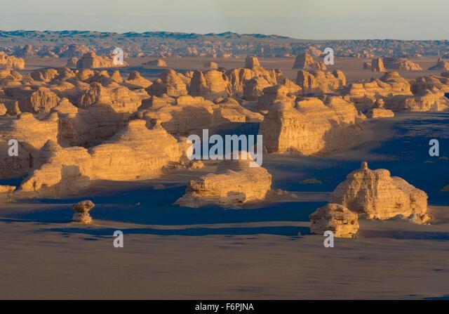 Dunhunag Yardang National Geopark, China  Gobi Desert, Great Silk Road - Stock Image