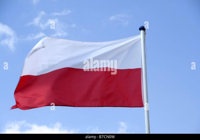 flag of Poland, Poland - Stock Image