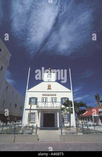 Saint Maarten landmark Courthouse Philipsburg - Stock Image