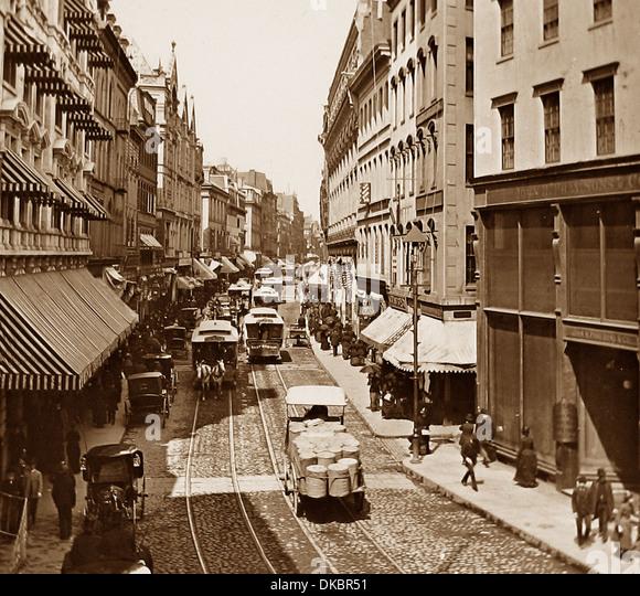 USA Boston Washington Street early 1900s - Stock Image
