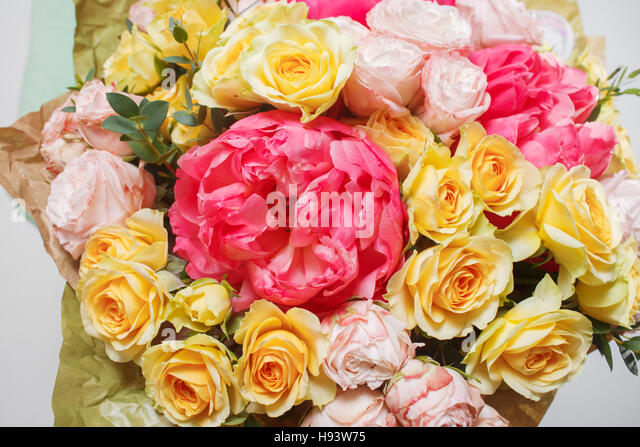 Flowers in different colors stock photos flowers in for Different color roses bouquet