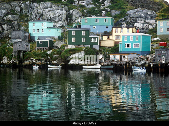 North America, Canada, Maritimes, Newfoundland, Rose Blanche, fishing outport - Stock Image