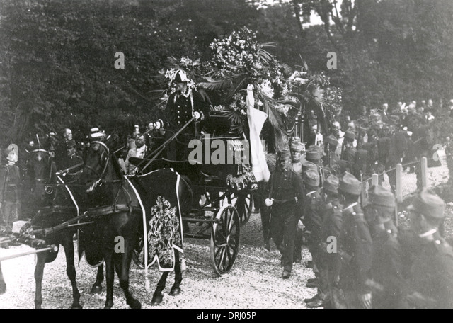 Funeral cortege, Archduke Franz Ferdinand and his wife - Stock Image